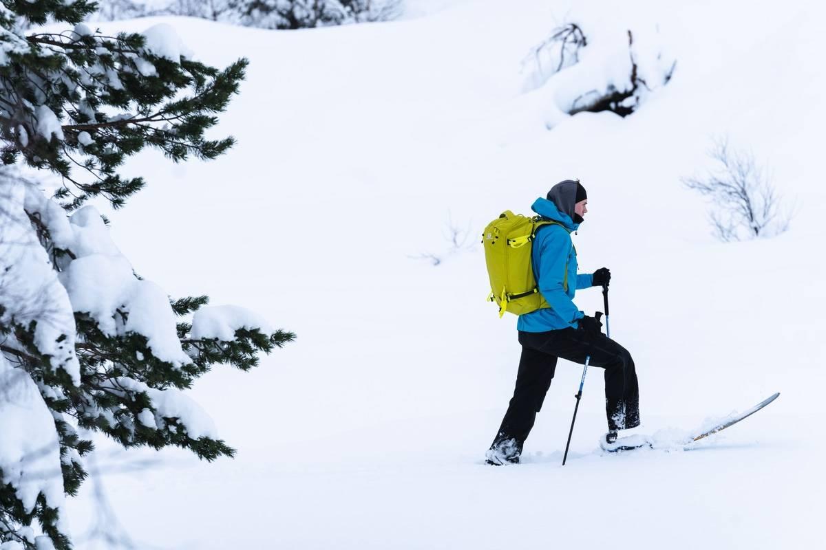 OPP: Rørstad var i en alvorlig speedriderulykke i mai 2018 og måtte amputere nedre del av høyre fot. Allerede vinteren 18/19 var han tilbake på ski. Disse bildene er fra vinteren 2020.