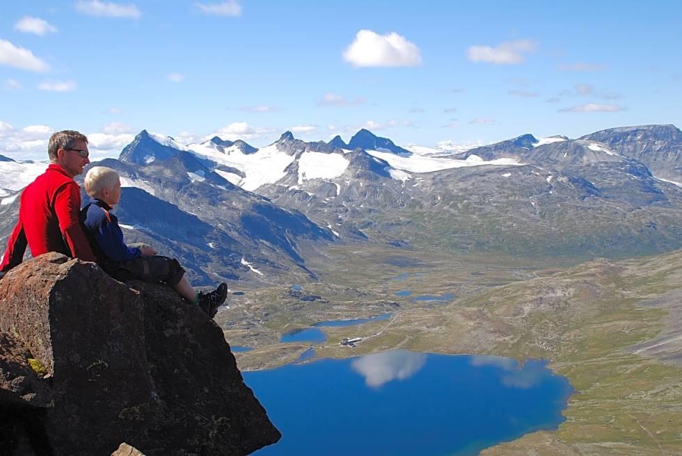utsikt fra Kyrkja Jotunheimen