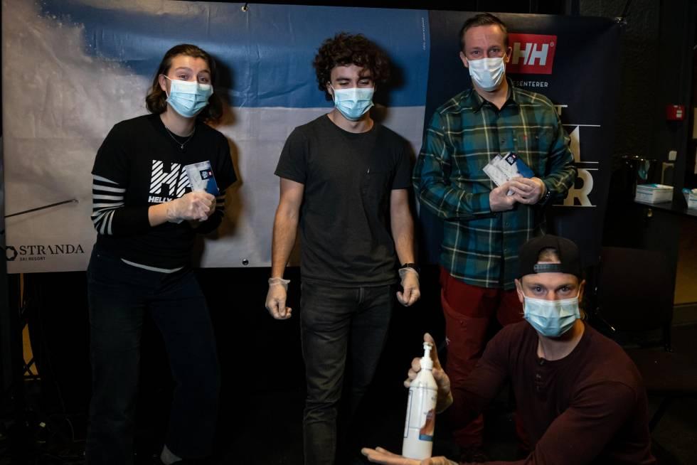 Vi ønsker å opprettholde godt smittevern under Fri Flyt Film Tour. Her fra Tromsø i 2020. Foto: Martin Andersen