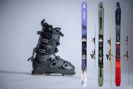Samleside for tester av ski og skiutstyr fra Atomic.