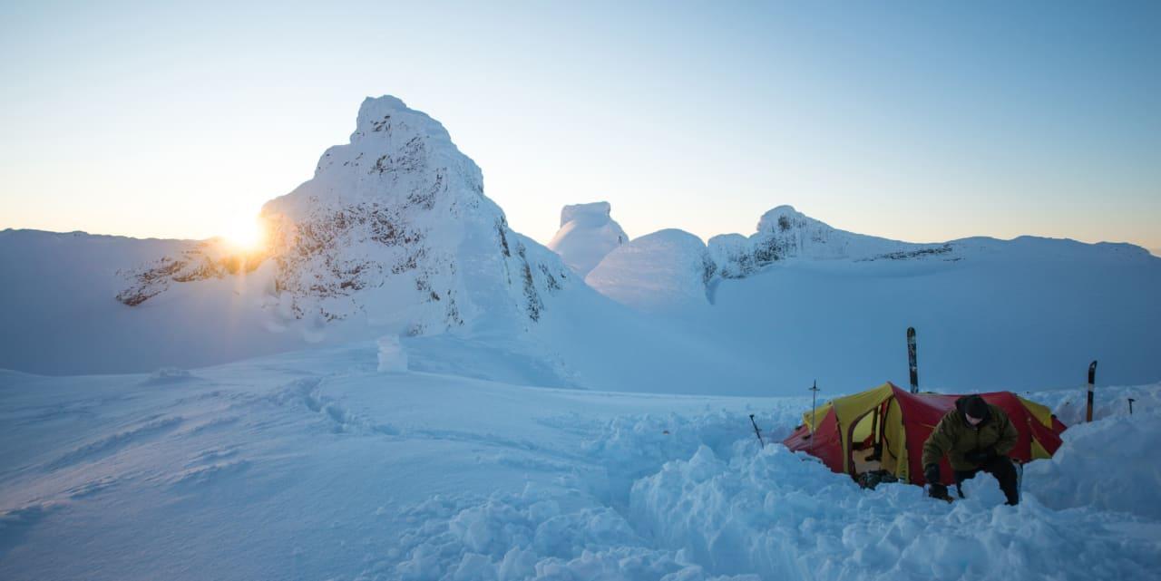Teltplassen på toppen av Sauen (2077m)