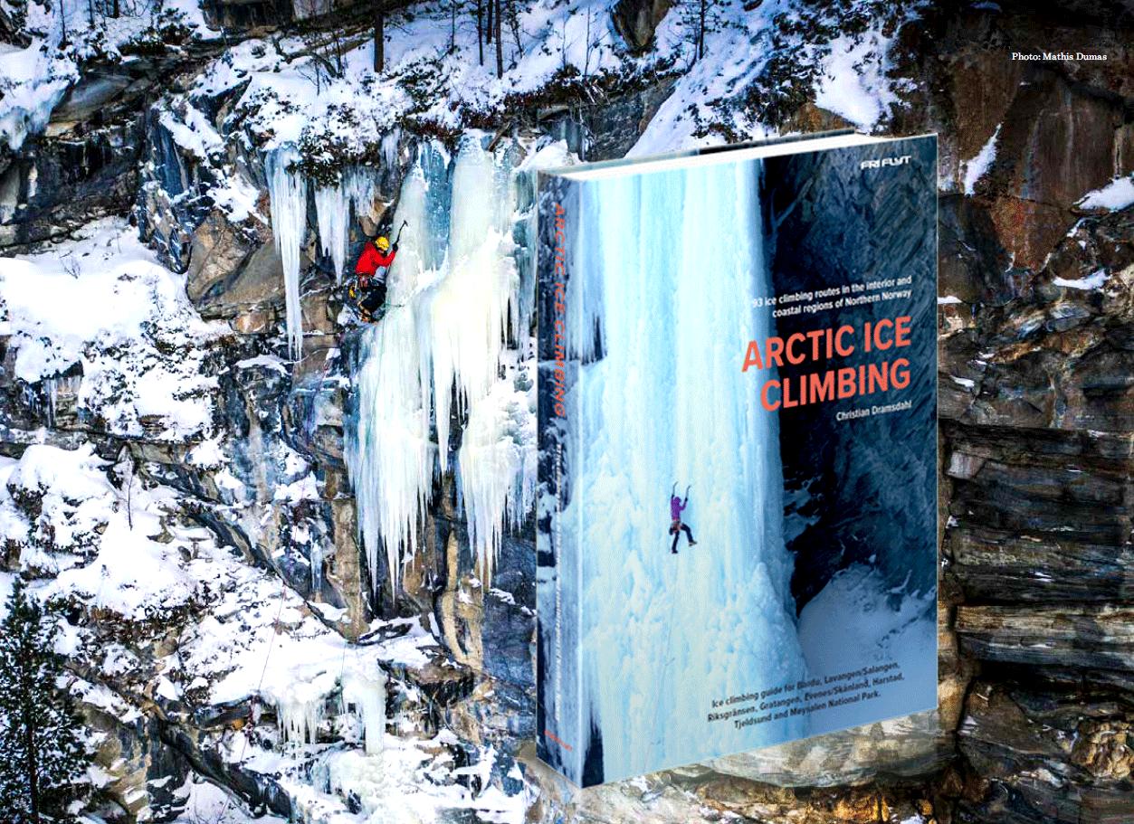 Arctic Ice Climbing Fri Flyt book cover Christian Dramsdahl