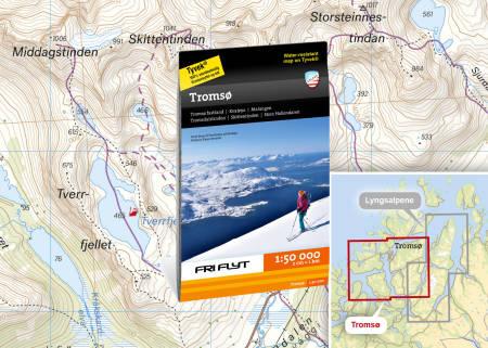 Kart Tromsø randonee topptur Fri Flyt