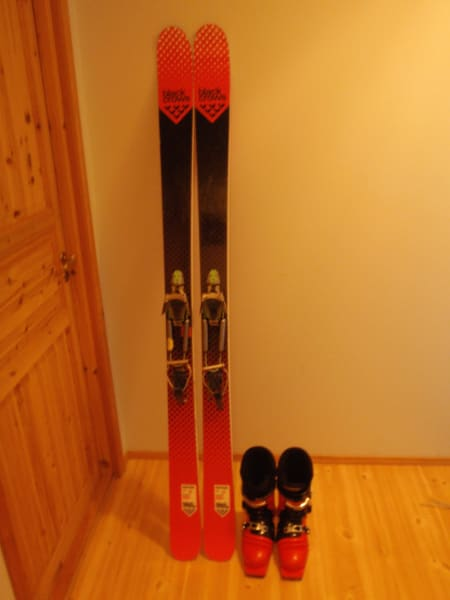 Black Crows Corvus 196, Black Diamond telemarkbindinger