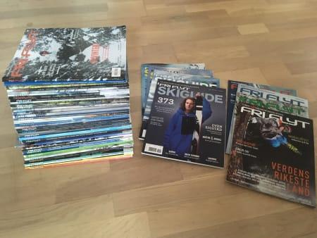 Flere årganger FF magasiner.