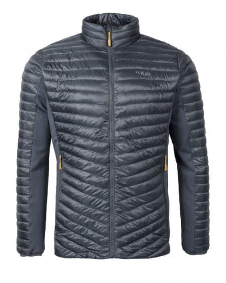 Ny Rab Cirrus Flex Jacket hybrid dun-/fleecejakke; herre; XL; farge Steel