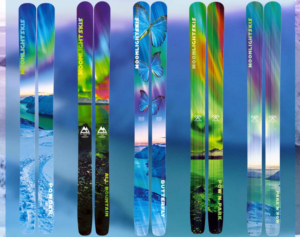 MÅNELYST: Dette er de norskdesigna skiene som skal være blant de letteste, brede skiene som er å oppdrive.