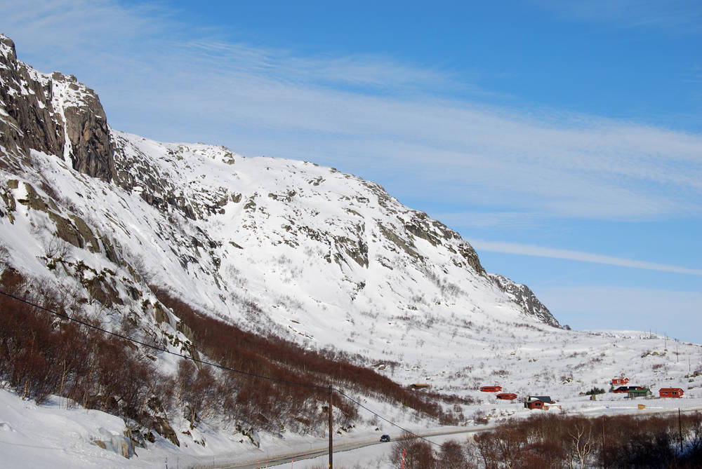 ARENA: Hallbrekkvæven i Hunnedalen er stedet for Stavanger Freeride, som skjer på lørdag. Foto: Ruben Wallin