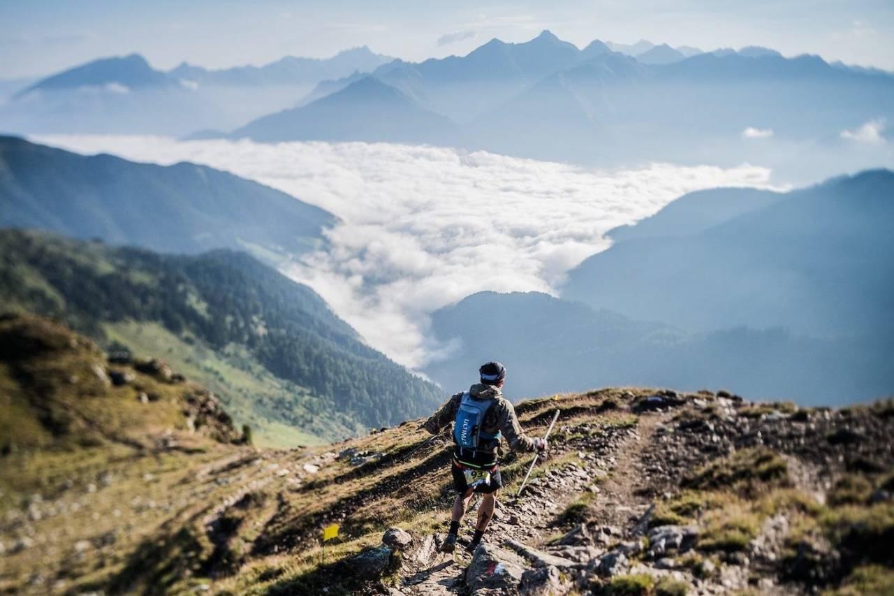Det var i dette området i Dolomittene at den norske kvinnen ble truffet av lynet. Foto: Südtirol Ultra Sky Race