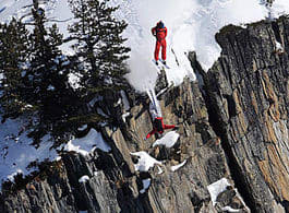 SKIBASE: Tom-Erik Heimen og Per Mundhjeld i Chamonix. Foto: P. Fragnol