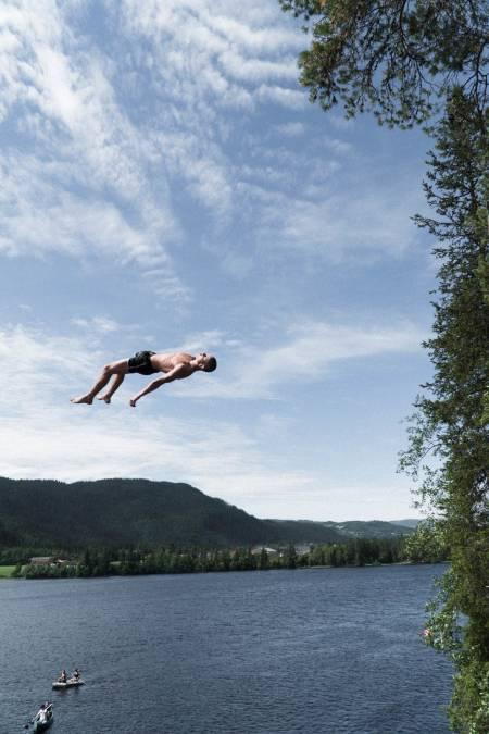 Truls Torp, flere ganger verdensmester i døds sendte det ganske så godt i dag. Foto: Henrik Ulleland