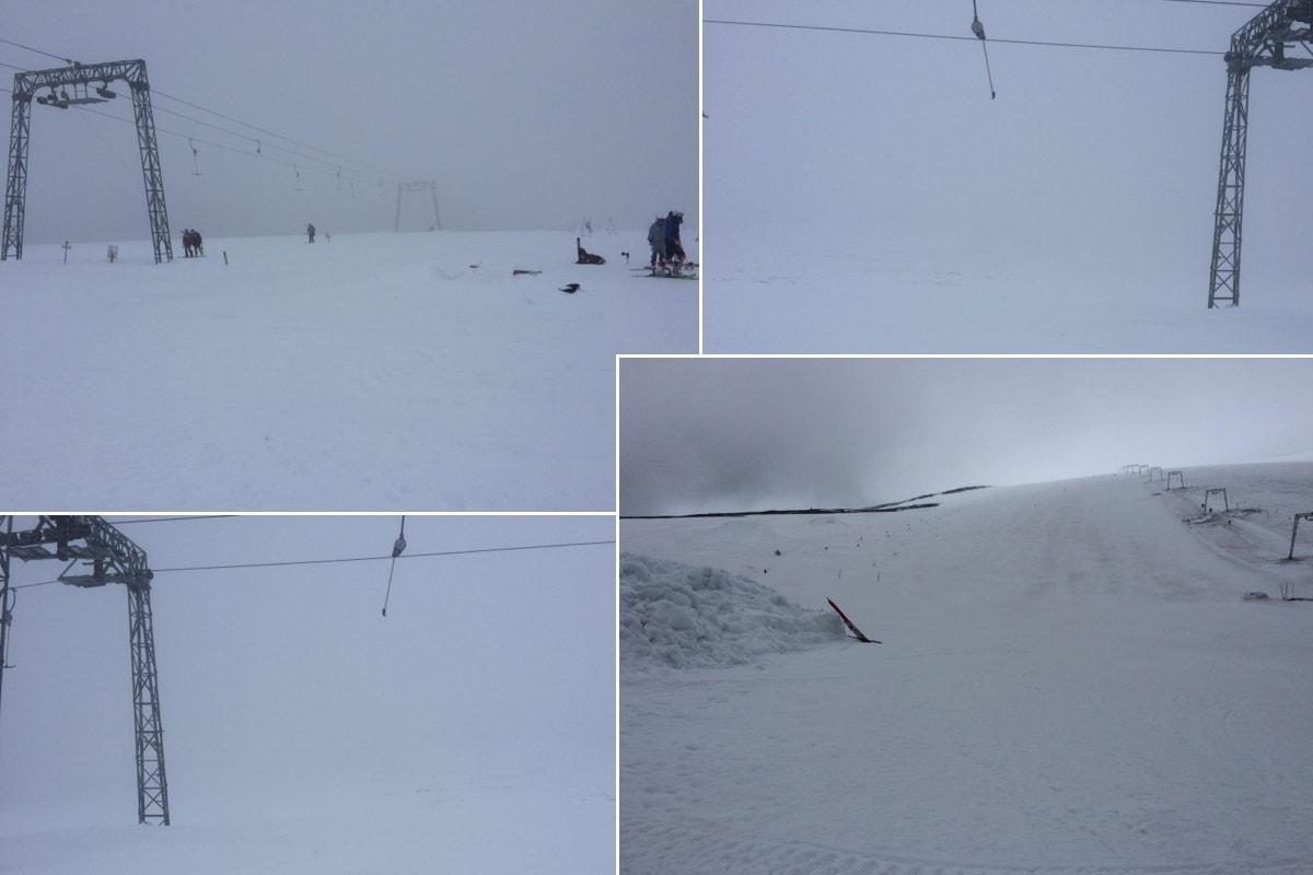 SNØ: Det snør på Galdhøpiggen, så nå er det gode skimuligheter i helga. Foto: Per Vole