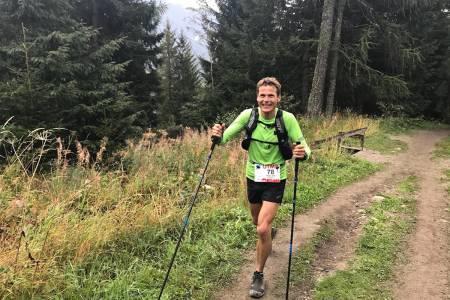 Hallvard Schjølberg vant masterklassen i Ultra-Trail du Mont Blanc. Foto: Lee Procter/Inov8