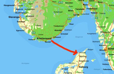 7,5 TIMER: Turen over til Danmark var ikke helt uten forviklinger for den uredde dominikaneren.