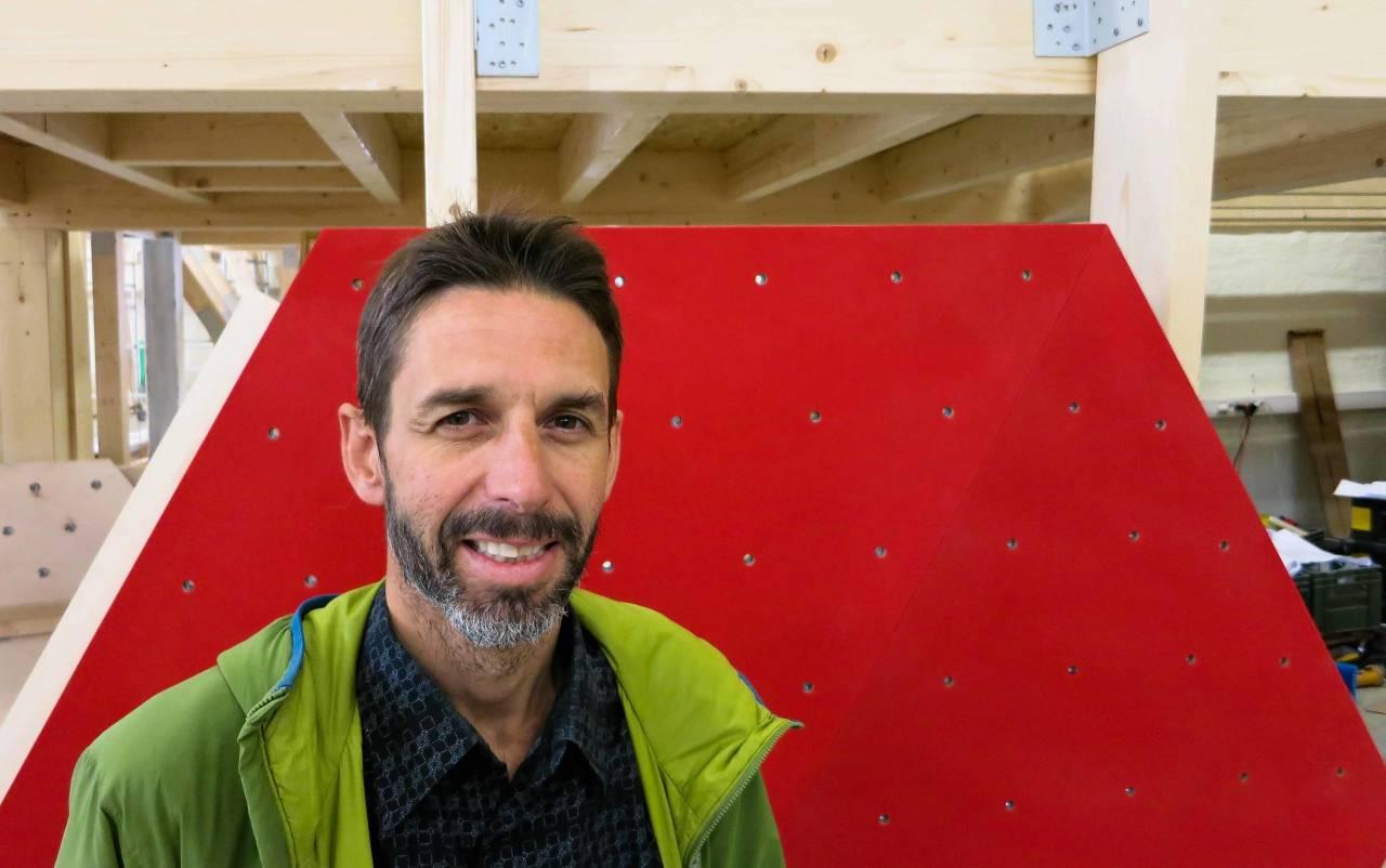 SJEF: Dag Cappelen Papazian og gjengen bak Klatreverket åpner buldresenter i september. Bilde: Henning Reinton