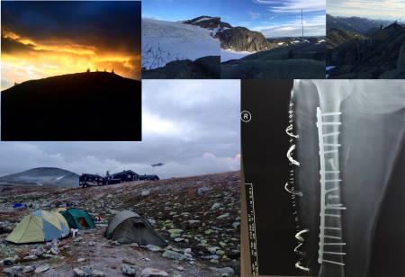 HELGENS BILDER: Både dramatikk på sykestua, telt, isbreer og solnedganger ble knipsa i helga.