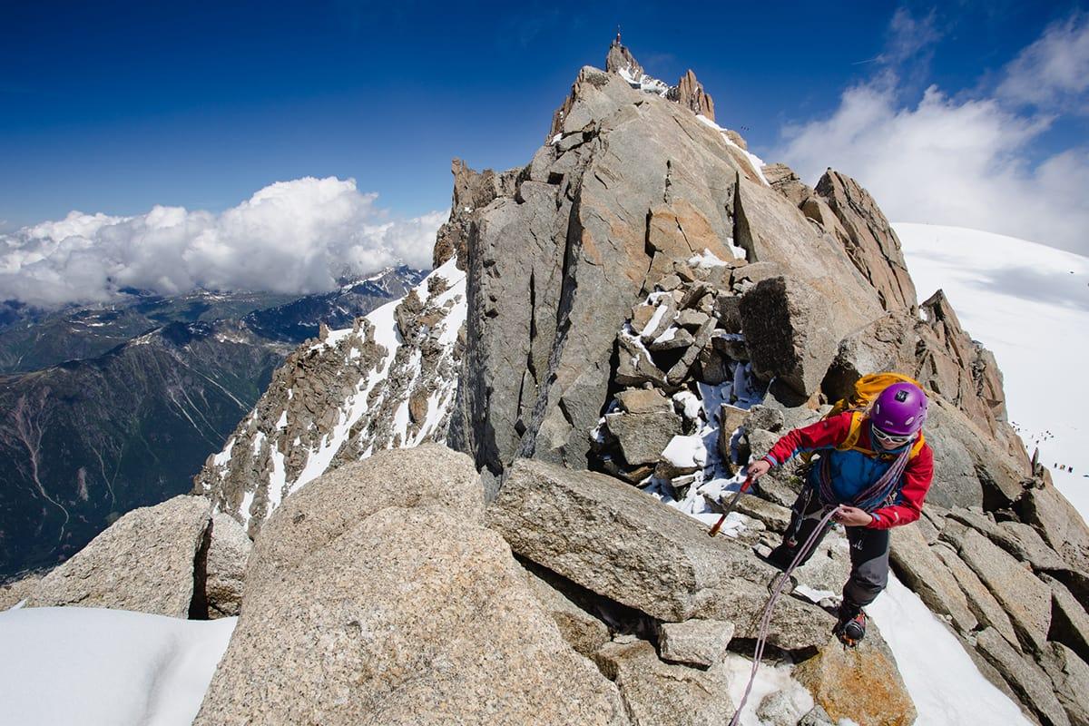 En av deltakerne som var i Chamonix for anledningen. Foto: Hugo Vincent / Arc'teryx