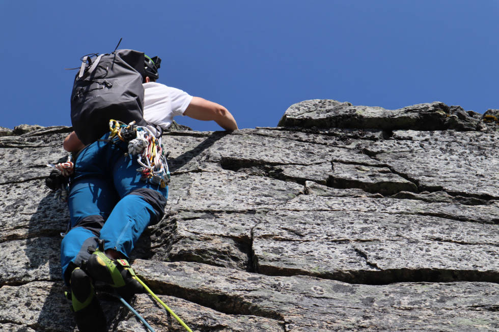 fjellklatring sekk test