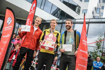 De raskeste herrene som sprang lengst: Jonatan Albon, Tom Owens og Finlay Wild