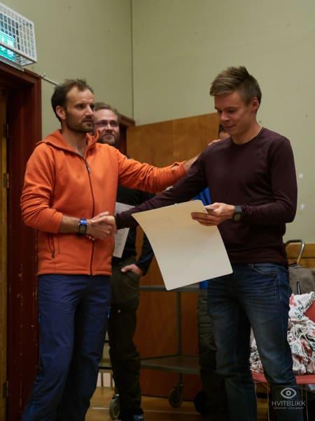 Førsteplass herrer og ny løyperekord Erik Lomås. Foto: Timme Ellingjord
