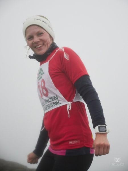 Andreplass i dameklassen, og arrangør av løpet; Jeanette Gundersen. Foto: Timme Ellingjord.