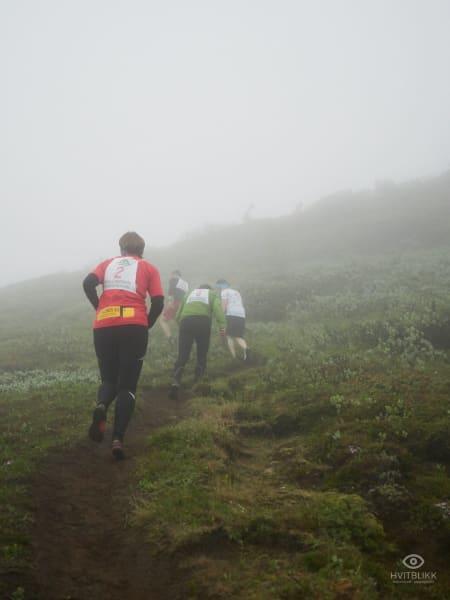 Full racing på vei opp til toppen. Foto: Timme Ellingjord.