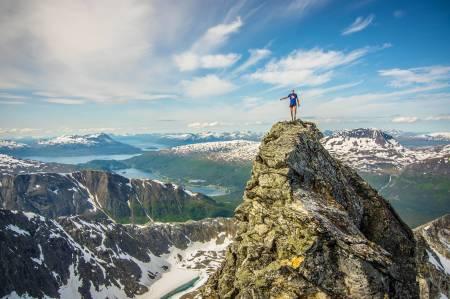 FJELLØP MED STATUS: Tromsø Skyrace trengte bare et par år på å vekke internasjonal oppmerksomhet og bli en del av verdenscupen i skyrunning. Den første helga i august braker det løs igjen på fjellene rundt Tromsø.