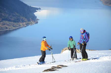 Barn ski topptur