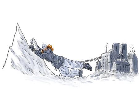 DIAGNOSE: Ski obsessive disorder. Illustrasjon: Didrik Magnus-Andresen
