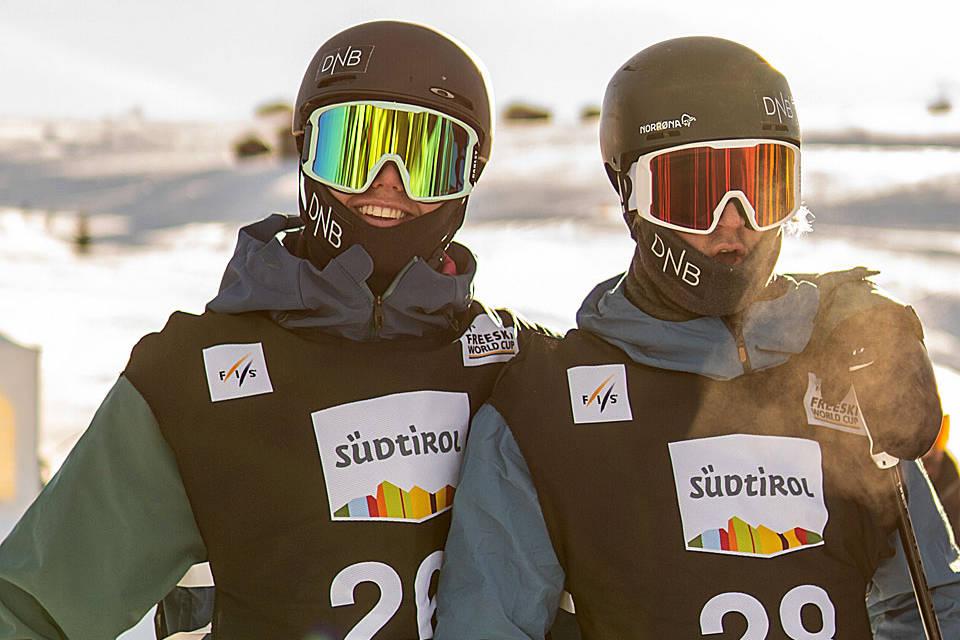 SEISER ALM: Ulrik Samnøy og Christian Nummedal klare til start. Foto: Nor Freeski