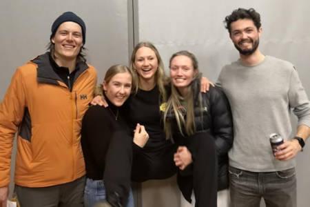 Fem norske utøvere i Verbier.