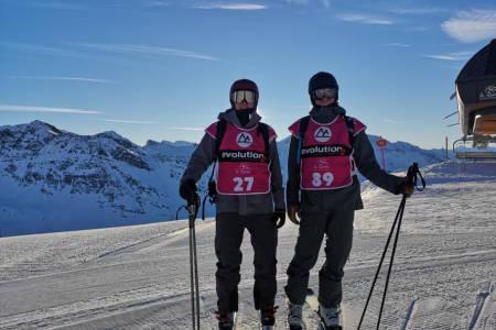 PÅ START: Øystein Aasheim (til venstre) og Eirik Schjølberg før start onsdag morgen. Foto: Simen Aasheim