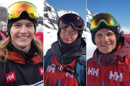 FIRESTJERNERS: Robert Ruud (t.v.), Stinius Hoseth Skjøtskift og Eirik Schjølberg reiser i januar til La Rosière i Frankrike. Foto: Anders Holtet
