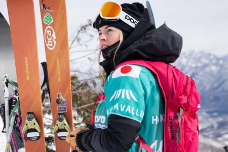 ÅRETS FØRSTE RENN: Hedvig Wessel under en av treningsdagene i Japan. Foto: Jeremy Bernard / FWT
