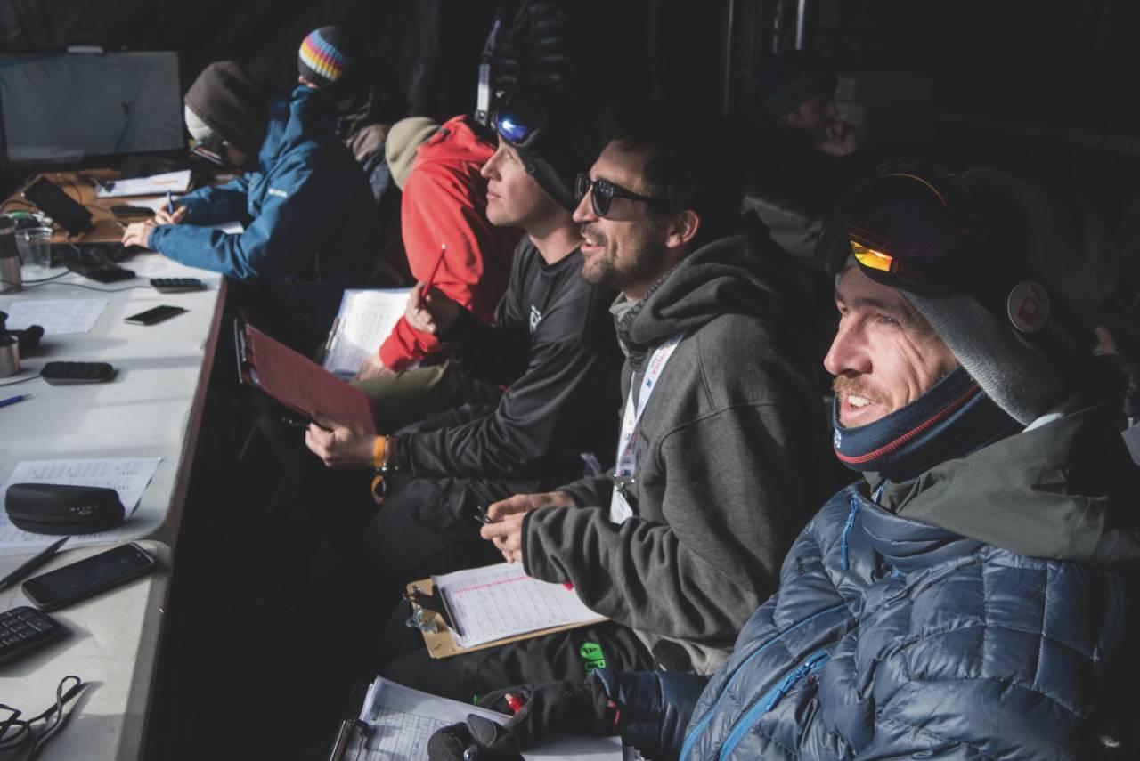 Norske Ole-Kristian Strøm (til høyre) er en av seks som skal dømme slopestyle og halfpipe under Vinter-OL i Sør-Korea. Bilde: Mateusz Kielpinski