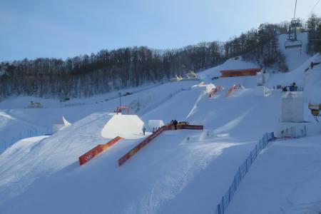 VILL PARK: Det er i denne parken de norske utøverne skal kjempe om OL-gull. Foto: Mike Atkinson