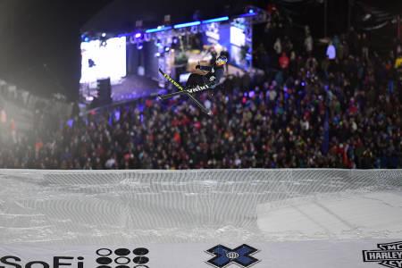 SØLV: Øystein Bråten tok sølv i X Games Big Air-finalen. Foto: ESPN