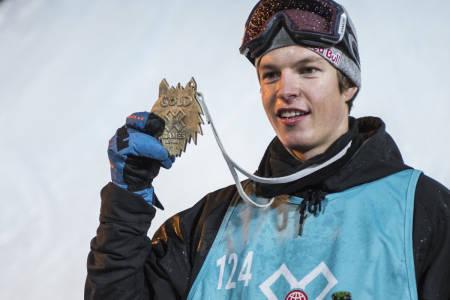 X GAMES-GULL: Øystein Bråten tok et svært solid gull torsdag kveld. Foto: Olav Standal Tangen