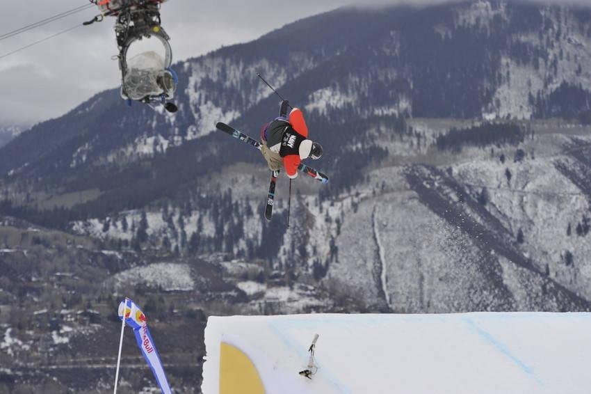 FEMTEPLASS: Andreas Håtveit ble nummer fem i dagens slopestylefinale i Aspen. Nick Goepper vant. Foto: ESPN