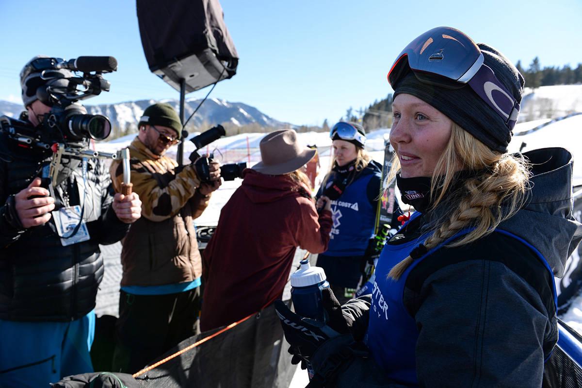 TILBAKE TIL X GAMES: Johanne Killi er på plass i Aspen. Her er hun fra fjorårets bronsemedalje. Foto: Filip McCririck / ESPN Images