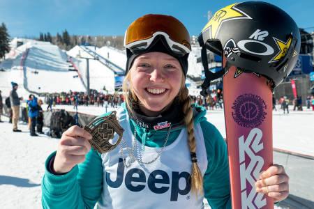 BRONSE: Johanne Killi tok bronse i årets X Games. Foto: Nor Freeski