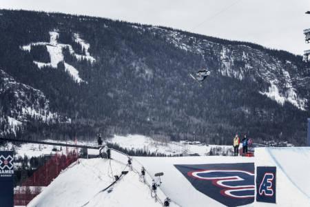 STØTTE: X Games får 15 millioner kroner i støtte fra regjeringen, og jobber nå med å få på plass et arrangement i Hafjell. Her med Øystein Bråten i 2017. Foto: Kyle Meyr / Red Bull Content Pool