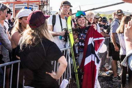 SØLV: Tiril Sjåstad Christiansen sikra bronsemedaljen under finalen på Fornebu. Foto: Andreas Løve Storm Fausko