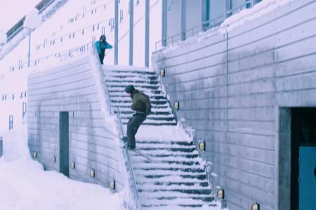 BRONSE: Alex Hackel tok bronsemedaljen i årets Real Ski. Foto: Skjermdump