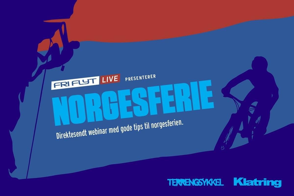 Fri Flyt live klatreferie og sykkelferie i Norge