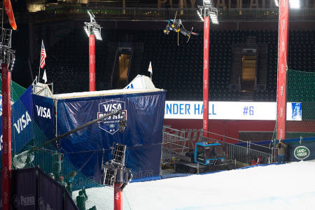 UTENFOR PALLEN: Verken Birk Ruud eller Johanne klarte å komme på pallen i Atlanta. Alex Hall (bildet) vant. Foto: FIS