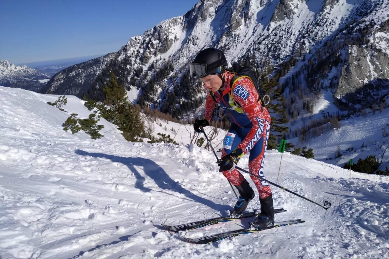 Hans-Inge Klette på vei mot fjerdeplass i den individuelle konkurransen under helgas verdenscuprunde i randonee i Tyskland. Foto: Marco Colombo/SkiTrab