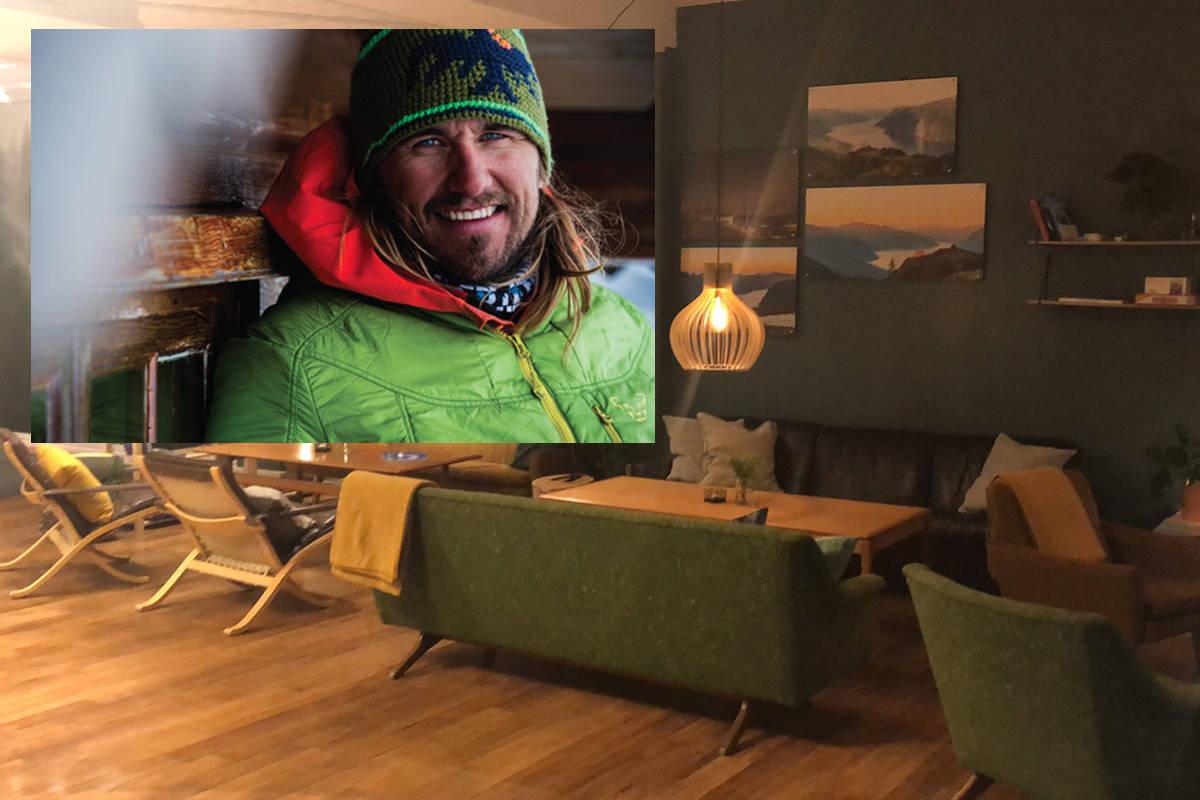 STARTER CAFE: Oscar Almgren skal drive café på Stranda i tillegg til guiding. Foto: Mattias Fredriksson/Oscar Almgren