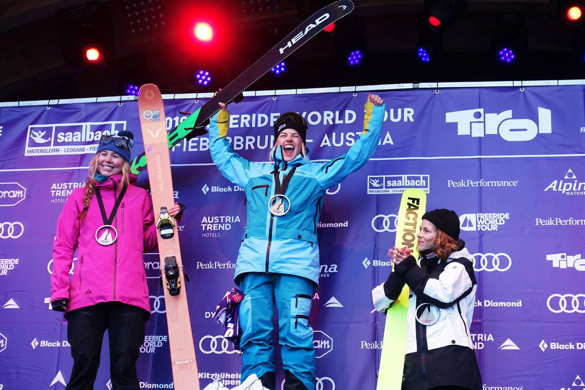 BEST I VERDEN: Hedvig Wessel vant dagers Freeride World Tour-runde i østerrikske Fieberbrunn. Foto: Tore Meirik