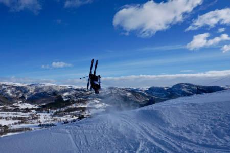 SEIER: Vebjørn Vindvik vant med dette bilder fra Vestvatn alpinanlegg i Nordland. Foto: Vebjørn Vindvik